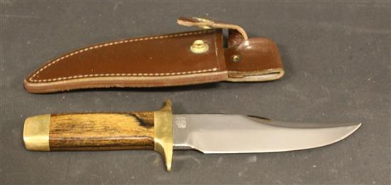 1975 SMITH AND WESSON 6010 BOWIE KNIFE WITH SHEATH
