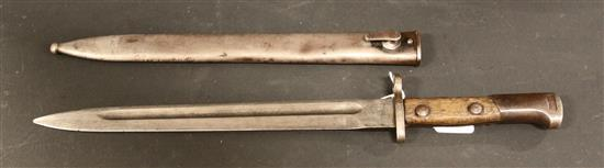 MAUSER BAYONET AND SCABBARD