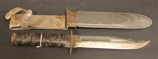 USN MK2 KA-BAR KNIFE AND SCABBARD