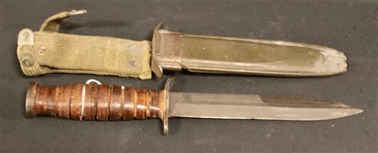 US M3 FIGHTING KNIFE WITH US M8 SCABBARD