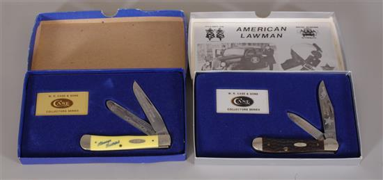2 1980'S CASE XX KNIFE COLLECTOR SERIES LT