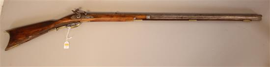 UNKNOWN MAKER .36 CALIBER BLACK POWDER RIFLE, DOES NOT NEED TO BE CALLED IN *********