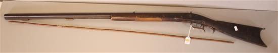 UNKNOWN MAKER .32 CALIBER BLACK POWDER RIFLE, CURLY MAPLE STOCK, DOES NOT NEED TO BE CALLED IN *********