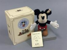 STEIFF MOHAIR MICKEY MOUSE 1998, CELEBRATING 70 YEARS, 5.5