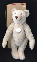STEIFF TEDDY BEAR 1921 WHITE, 70 cm REPLICA, LIMITED EDITION, WITH ORIGINAL BOX AND COA.  GROWLER.  THIS ITEM COMES FROM A PET FRIEN...
