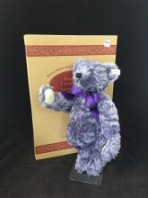STEIFF MOHAIR TEDDY BEAR LAVENDER BLUE 42 EXCLUSIVELY FOR NORTH AMERICA 1998 15