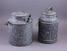 (2) GALVANIZED WATER CANS