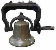 LOCOMOTIVE BELL #ES2454 IN IRON MOUNTING