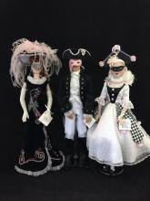 3 UNBOXED GENE DOLLS INCLUDING MADRA, TRENT AND GENE