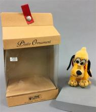 STEIFF MOHAIR PLUTO ORNAMENT, 16cm LIMITED EDITION IN ORIGINAL BOX AND COA.  THIS ITEM COMES FROM A PET FRIENDLY HOME AND HAS BEEN O...