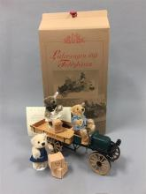 STEIFF DELIVERY CART WITH THREE TEDDY BEARS AND CART ACCESSORIES, 5