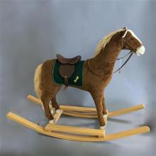 STEIFF MOHAIR ROCKING HORSE WITH WOODEN ROCKERS, 32