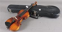 UNMARKED VIOLIN WITH CASE