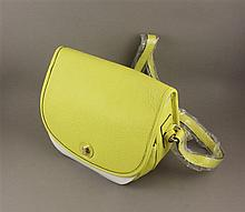 ISAAC MIZRAHI YELLOW LEATHER PURSE