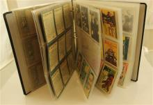 LOT ASSORTED TRADING CARDS IN BINDER INCLUDING 35 HORROR MONSTER SERIES HORRIBLE JOKES, 12 BEATLES CARDS, 3 NASA CARDS