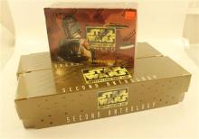 LOT STAR WARS GAME CARDS INCLUDING CLOUD CITY CARD CAME AND 2 SECOND ANTHOLOGY CARD GAMES, ALL IN ORIGINAL BOXES, ALL SEALED