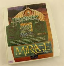 LOT 490 MAGIC HOMELANDS MIRAGE GAME CARDS IN BINDER