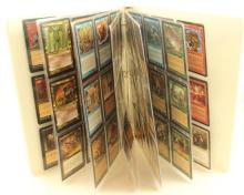 LOT 135 MAGIC THE GATHERING CARDS IN BINDER