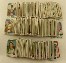 LOT 2 TOPPS SETS 1973-74 MLB PLAYER CARDS, BOTH SETS INCOMPLETE, TOPPS 1974 TEAM CHECKLISTS