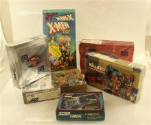 LOT ASSORTED BOXED AND SEALED TRADING CARDS INCLUDING SKYBOX ULTRAVERSE AND SUPERMAN, X-MEN, STAR TREK