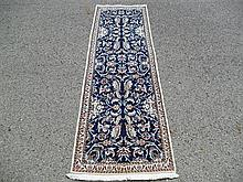 PERSIAN NAIN SILK & WOOL RUNNER 2' X 6.6'