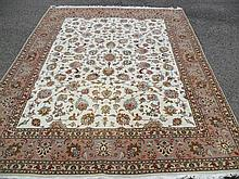 FINE PERSIAN TABRIZ SILK & WOOL 6.5' X 9'