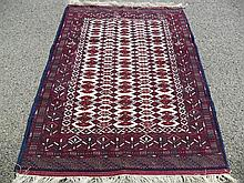 PERSIAN TURKOMAN SILK & WOOL 3.9' X 5.3'