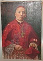 JOSEPH MALACHY KAVANAGH (1856-1919 IRELAND) OIL ON CANVAS PORTRAIT OF CARDINAL UNFRAMED, SEV PUNCTURES TO CANVAS 20