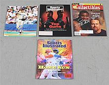 LOT SIGNED ASSORTED MAGAZINES AND PROMOTIONAL MATERIALS INCLUDING KEN GRIFFIN, JR