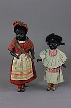 2 BLACK DOLLS INCLUDING 9 1/2