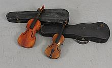 (2) STRADIVARIUS COPY VIOLINS WITH HARD CASES 19