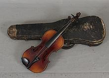 CZECHOSLOVAKIA STRADIVARIUS COPY VIOLIN INCLUDING HARD CASE, 24