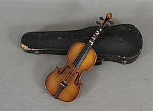KISO SUZUKI STRADIVARIUS COPY VIOLIN INCLUDING HARD CASE, 21 1/2