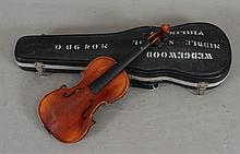 A. SCHROETTER GERMAN MITTENWALD/BAYREN VIOLIN INCLUDING HARD CASE, 22