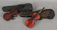 (2) VIOLIN BODIES INCLUDING HARD CASES