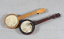 (2) FOLK ART BANJOS CHILD SIZE, 21