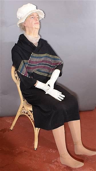 FIRST LADY ELEANOR ROOSEVELT WAX FIGURE