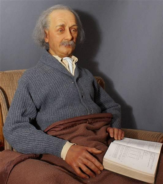 "ALBERT EINSTEIN  ""LIVE IN PERSON CAST"" WAX FIGURE BY KATHERINE STUBERGH 1 OF 2 MADE!"
