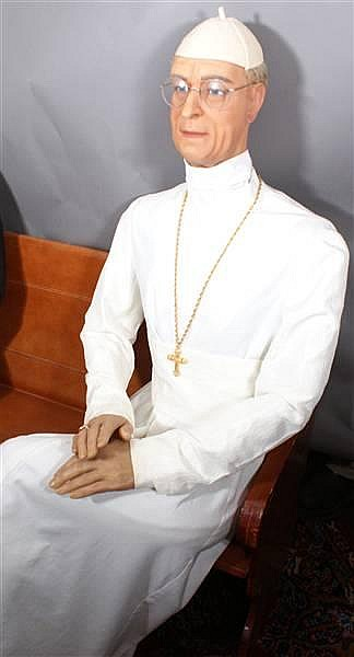 POPE PIUS BENEDICT XII WAX FIGURE BY KATHERINE STUBERGH