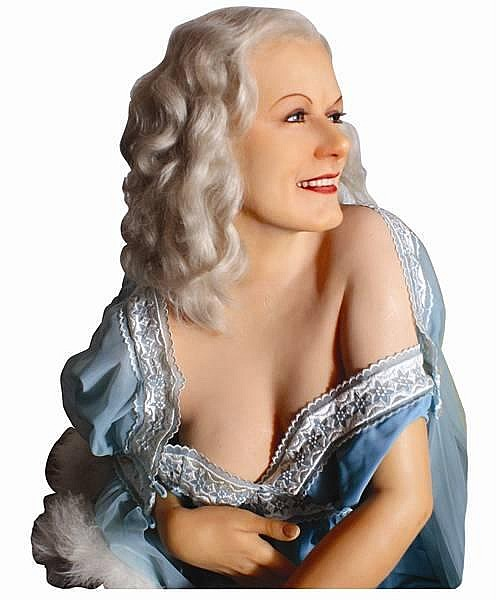 "JEAN HARLOW  ""LIVE IN PERSON CAST"" WAX FIGURE BY KATHERINE STUBERGH 1 OF 2 MADE!"