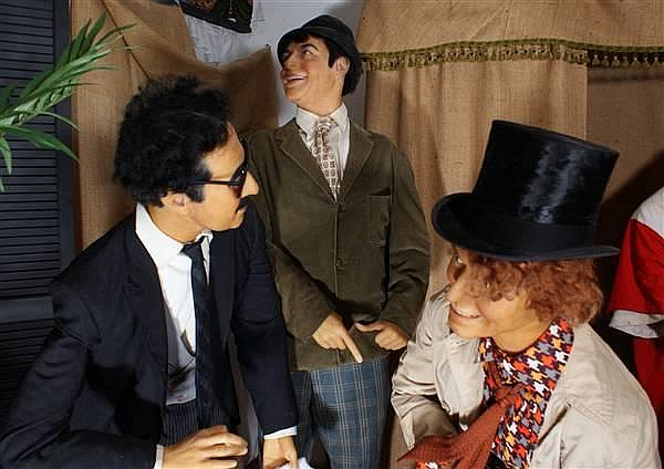 THE MARX BROTHERS- GROUCHO, HARPO AND CHICO WAX FIGURES BY KATHERINE STUBERGH