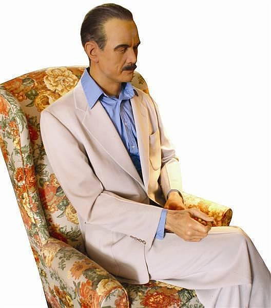 "HOWARD HUGHES  ""LIVE IN PERSON CAST"" WAX FIGURE BY KATHERINE STUBERGH 1OF 2 MADE!"
