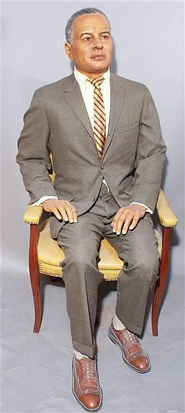DR. RALPH BUNCHE WAX FIGURE BY KATHERINE STUBERGH