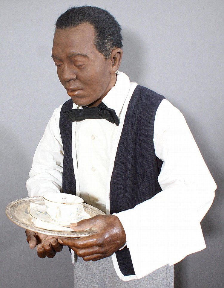 AFRICAN AMERICAN BUTLER WAX FIGURE BY KATHERINE STUBERGH