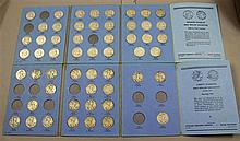 (54) WALKING LIBERTY AND FRANKLIN HALF DOLLARS IN (2) WHITMAN FOLDERS