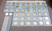44 FRANKLIN MINT STERLING SILVER .925 MEDALLIONS