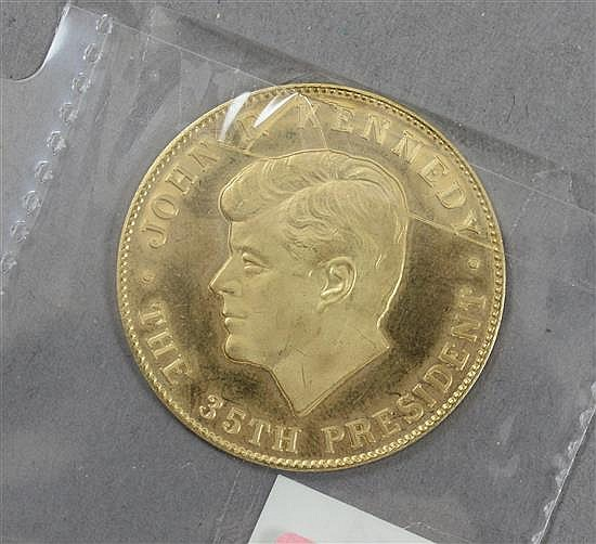 1963 JFK 10K GOLD PRESIDENTIAL TOKEN 16.99 GRAMS TW