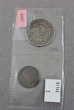 1812 CAPPED BUST HALF DOLLAR AND 1899 BARBER QUARTER
