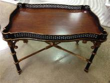 ASIAN STYLE COFFEE TABLE WITH GOLD DECORATION