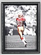 FRAMED SIGNED HOLOGRAM BY JERRY RICE, 19